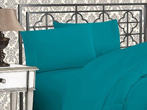 Eleganten Komfort 1500Fadenzahl Ägyptische Qualität 4-teilig Bett-Sets mit tiefen Taschen, Queen, türkis - Komfort ägyptische