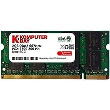 Komputerbay - Módulo de memoria (SO-DIMM, 2 GB, 200 pines, 667 MHz, PC-5400, PC-5300, DDR2)