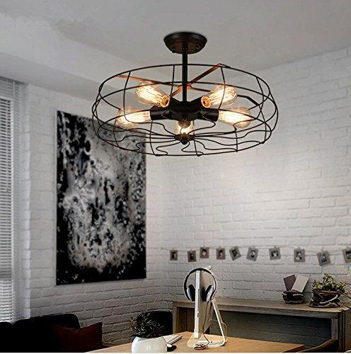 LINA-Ciondolo Vintage retrò tonalità chiare Contemporanea Ciondolo plafoniera luce metallo soffitto illuminazione lampada Vintage Lampada da soffitto ventilatore di Phoenix