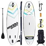 Mapuna Miweba Stand up Paddle Sup Board Surf Brett aufblasbar 305 & 325cm 15cm Paddling Paddel (White-Fresh 305cm)