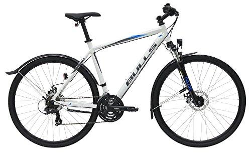 Herren Fahrrad 28 Zoll weiß - Bulls Wildcross Street Trekking Bike - Shimano Schaltung 21 Gänge, Licht