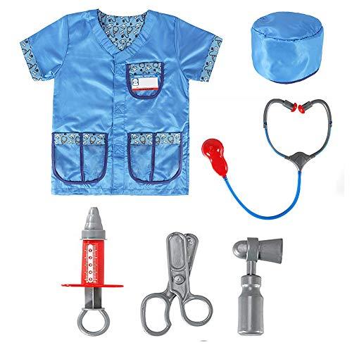Bello Luna Kindertierarzt Kostüm Rollenspiel Pretend Play Doctor Stethoscope Toy mit 4 (Arzt Namen Für Halloween Kostüm)