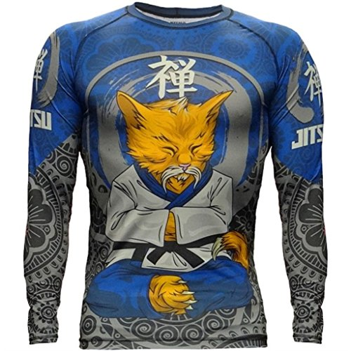 Rashguard Jitsu Zen-cat-s Kompressionsshirt MMA BJJ UFC Kampfsport (Mixed-martial-arts-matten)