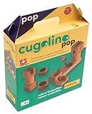 Cugolino Pop 085 (Zusatzkasten zum Cugolino Holz-Kugelbahnsystem von Cuboro) 13 Elemente + 6 Murmeln (Alter: ab 5 Jahre)