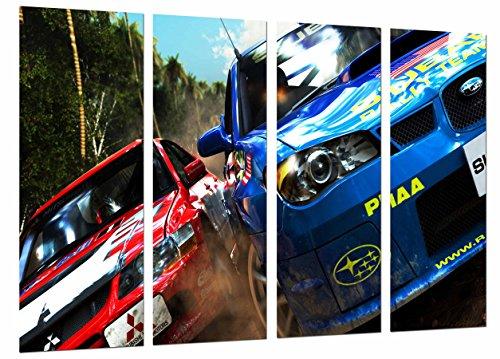Poster Moderno Fotografico Competicion Deporte Coches Rally Rojo Citroen, 131 x 62 cm, ref. PST27094