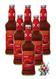 6er Pack - [6x 800g] Süsse Chilisauce für Huhn COCK Sweet Chilli Sauce + ein kleines Glückspüppchen - Holzpüppchen