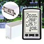 YUOKI Rain Gauge Measurement Tool Sensor Digital Temperature Wireless Weather Instrument Outdoor Garden Indoor Thermometer