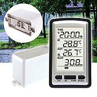 Almabner Wireless Rain Gauge,Portable Plastic Measurement Tool Outdoor Practical Digital Weather Instrument-Easy-Read Magnifying Rain Gauge