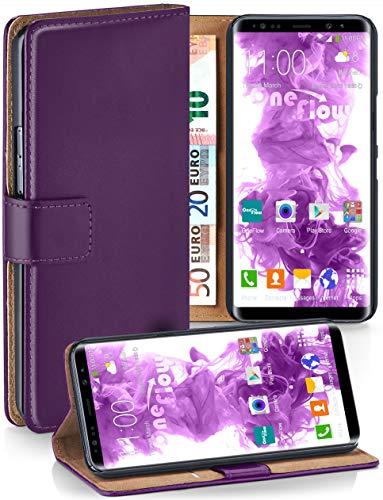 moex Samsung Galaxy Note8 | Hülle Lila mit Karten-Fach 360° Book Klapp-Hülle Handytasche Kunst-Leder Handyhülle für Samsung Galaxy Note 8 Case Flip Cover Schutzhülle Tasche