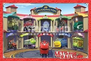 Dessin animé Chuggington Friends Trains Children's Grand Poster 61 Par 91,5 cm