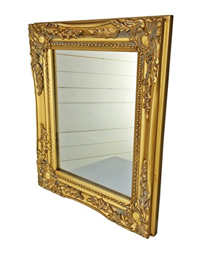 Elbmöbel wall mirror GOLD shabby chic antique style ornate 32x27x3cm large