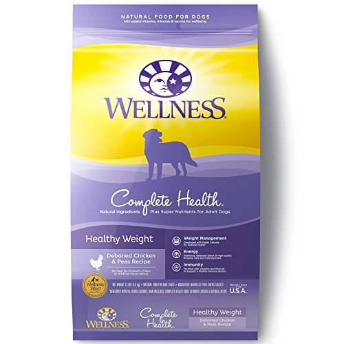 Wellness Complete Health Natural Dry Healthy Weight Dog Food, Chicken & Peas, 13-Pound Bag by Wellness Natural Pet Food Wellness Pet Food