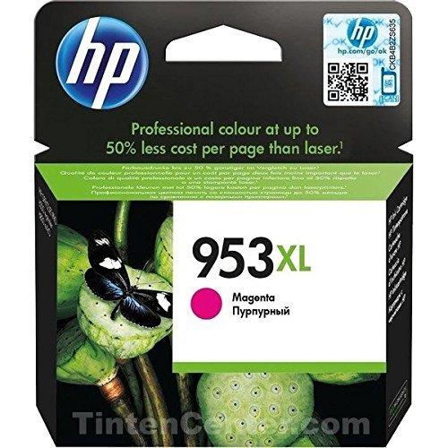 HP 953XL - Cartucho de tinta para impresoras (alto, compatible con OfficeJet Pro 8210/8218/8710 AiO/8715 AiO), magenta