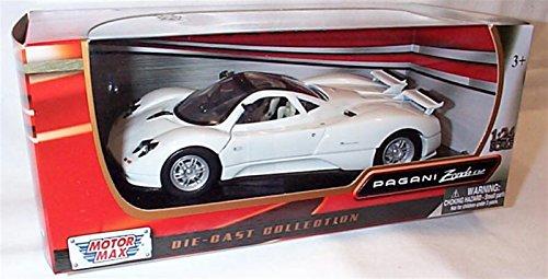 motor-max-white-pagani-zonda-c12-car-124-scale-diecast-model