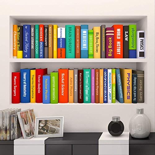 Wandtattoos Wandbilder Wandaufkleber Wand Sticker,Wandaufkleber Kreative 3D Bücherregal Buch...