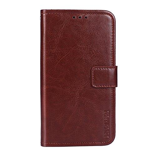 COVO® Doogee Mix Lite Brieftasche Hülle PU+TPU Kunstleder Handyfall für Doogee Mix Lite mit Stand Funktion Ein Stent-Funktion (Braun)