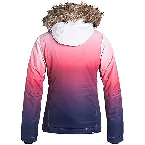 Roxy Gradient–Cazadora de esquí de niña gradiente Paradise Pink Fr: 10ans (talla fabricante: