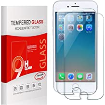 Utmury iPhone7 plus Pellicola Protettiva in Vetro Temperato Proteggi schermo per iPhone7 plus 9H Durezza [3d Touch Compatibile] Facilità di Installazione (2 pezzi)