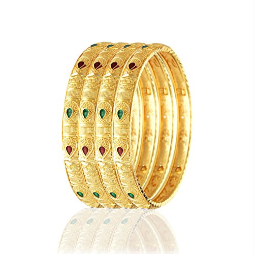 Variation 4 Pieces Gold Plated Bangles for Women - VD18045_2.6