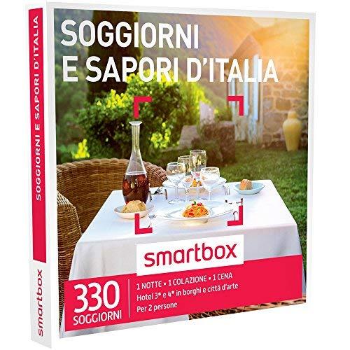 Smartbox - soggiorni e sapori d'italia - 330 soggiorni di gusto in hotel 3* e 4*, cofanetto regalo gastronomici