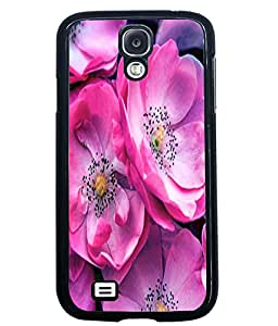Fuson 2D Printed Flower Designer back case cover for Samsung Galaxy S4 - D4499