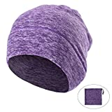 AYPOW Winter Fleece Neck Warmer, Unisex Warm Face Mask Scarf Neck Warmers Thermal Beanie Balaclava Hood for Cycling/Snowboarding/Skiing/Running (Purple Color) - with Adjustable Strap