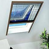 Insektenschutz & Fliegengitter Dachfenster Plissee-110x160cm-braun