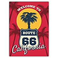 SkyBug California Beach Seashore Route 66 Bumper Sticker Vinyl Art Decal for Car Truck Van Wall Window (20 X 24 cm)