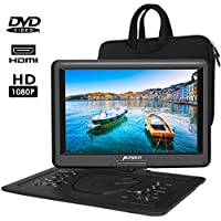 """PUMPKIN 18.6"""" Portable DVD Player with 16"""" HD Screen,5000mAh Rechargeable Battery Support HDMI Input,1080P Video,Sync Screen,USB/TF Card Direct Play in Multiple Disc Formats (Free Carry Bag)"""