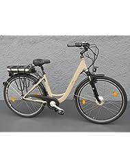 "28"" Alu MIFA Damen Elektro Fahrrad E Bike Pedelec SHIMANO 7 Gang Nexus beige"