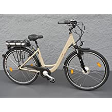 '28Aluminio Bicicleta eléctrica Mujer bicicleta eléctrica S Bike Pedelec 7velocidades Shimano Nexus Beige