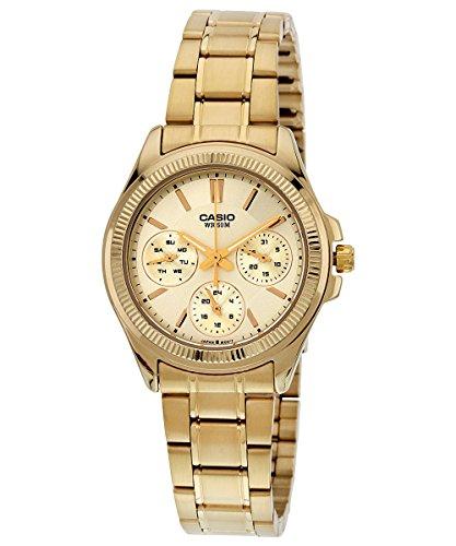 Casio Enticer Analog Gold Dial Women's Watch - LTP-2088G-9AVDF (A935)