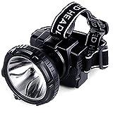 GLJJQMY LED Wiederaufladbare Super Helle Scheinwerfer Verstellbaren Kopf Mit Taschenlampe Stirnband Angeln Suchscheinwerfer Taschenlampe