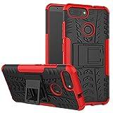 LFDZ Zenfone Max Plus Tasche, Hülle Abdeckung Cover schutzhülle Tough Strong Rugged Shock Proof Heavy Duty Case Für Asus Zenfone Max Plus (M1) ZB570TL Smartphone (mit 4in1 Geschenk verpackt),Rot