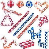 18 Pack de Cubos de Serpientes Mágicos de 24 Bloques Juguetes de Rompecabezas de Serpiente Mini Cubos para Materiales de Fiesta Rellenos de Bolsa de Fiesta de Niños, Colores al Azar