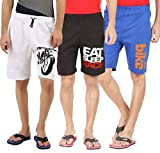 #9: Hotfits Multicolour Graphic design Combo shorts