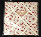 Red Rose Vintage Shabby Chic Floral Padded Notice Pin Fabric Memo Board by Sifcon