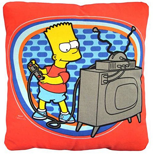 SIMPSONS - Coussin Bart TV (Simpson Bart Perücke)