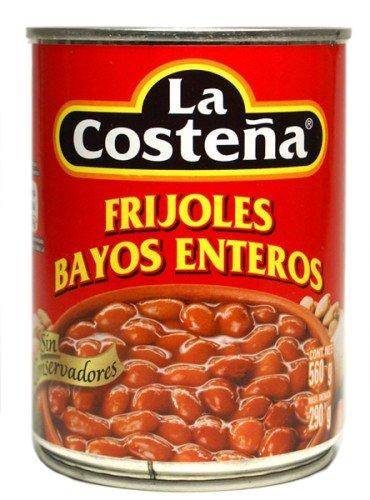 La Costena - Ganze braune Bohnen (Frijoles Bayos Enteros) - 560g (Bohnen Braune)
