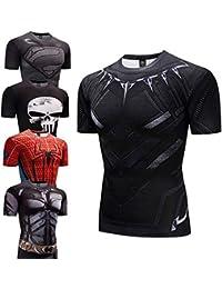 a61c025dc INCLUDS Black Panther Fitness Bodybuilding Compression Shirt Men Anime  Rashgarda Rashguard MMA 3D Superman Punisher T