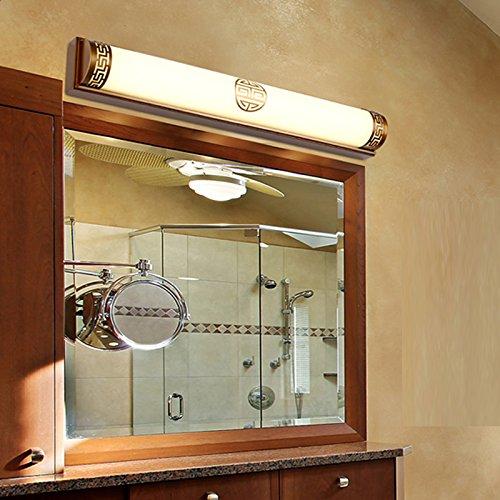 SJUN Led Luci Specchio Bagno Elegante, Minimalista Di Vetro Lampade Retrò Stile Europeo Parete Applique (Bronzo Bagno Piastrelle)