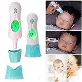 Infrarot Fieberthermometer VOSMEP 4-in-1 Infrarot Thermometer Fieberthermometer, Ohrthermometer, Stirnthermometer, Umgebungstemperaturermometer für Babys Kinder Erwachsenen ältere Menschen SH12