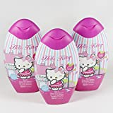 3 x Hello Kitty Duschgel,2 in 1,Schampoo,Himbeere