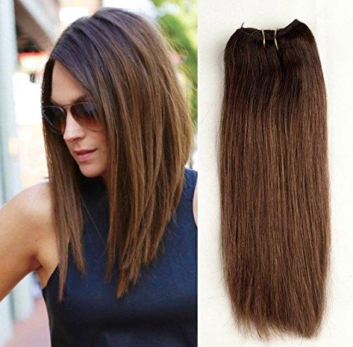 Devalook Haarverlängerung, 30 cm (12 Zoll), , Dark brown to brownish blonde, Stück: 1