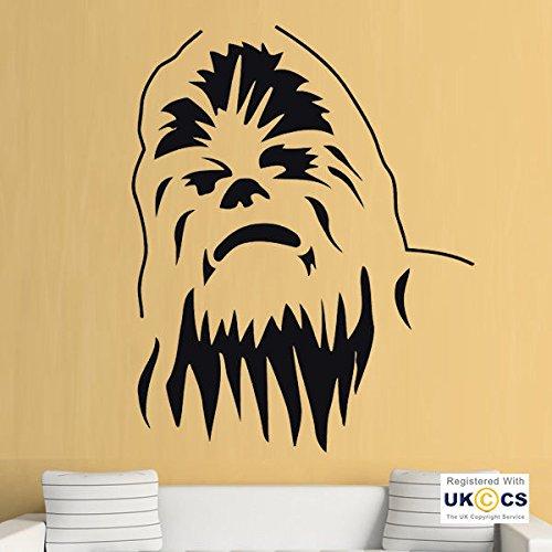 leber-Abziehbilder Vinyl-Hauptraum-Dekor-Schlafzimmer Jungen Mädchen Kinder Erwachsene Heim Wohnzimmer Zitate Küche Badezimmer Wandaufkleber Star Wars Chewbacca Kühle ()