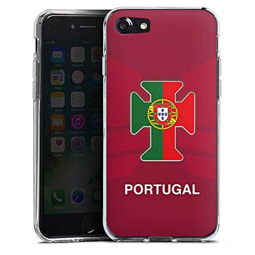 Apple iPhone X Silikon Hülle Case Schutzhülle Portugal EM Trikot Fußball Europameisterschaft Silikon Case transparent