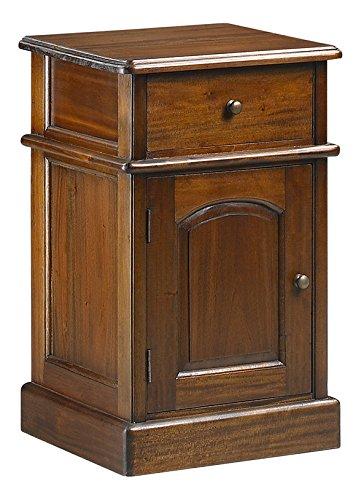 Moycor Vintage - Mesita Victorian, 1 cajón, 1 puerta, 40 x 40...