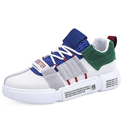 Dorical Laufschuhe Herren Freizeit Mode Sneaker Sportschuhe Leichte Straßenlaufschuhe Running für Outdoor, Männer Ins Super Feuer Atmungsaktiv Mesh Schuhe Erleuchtung Beiläufig Schuhe(Blau,41 EU)