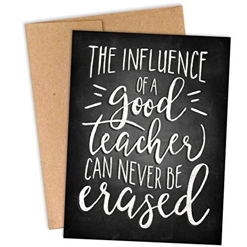 Danke, Lehren! Palmer Street Press Dankeskarten für Lehrer - Der Einfluss eines guten Lehrers kann nie gelöscht werden - Dankeskarten für Lehrer, Großpackung - hergestellt in den USA, 10 Stück (Store-gruß-karten)