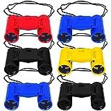 Elcoho 6 Pack Toy Kids Binoculars 4 Colors Plastic Binoculars with Neck String